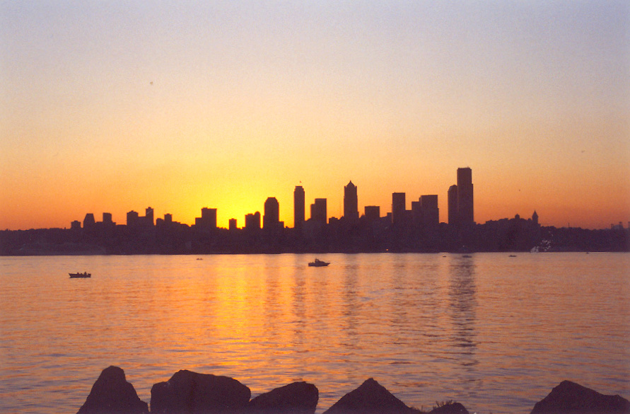 Seattle Golden Sunset
