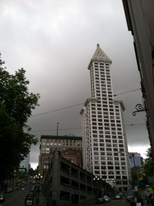 Cloudy skies and rain yesterday preventing the temperature from rising above 52 degrees--Seattle's coldest high temperature on record for May 22. Things should warm up more today.