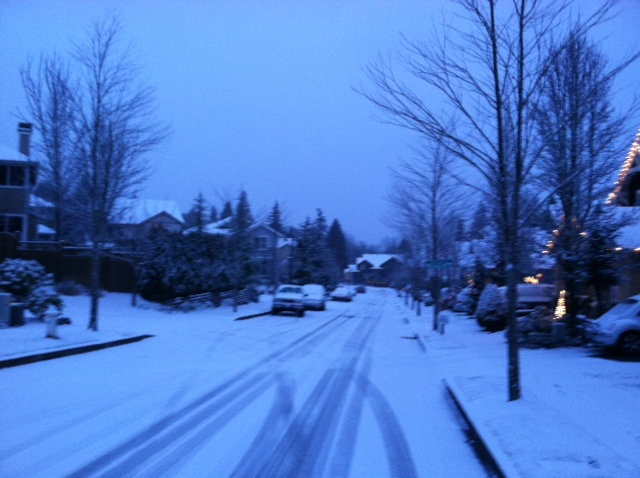 Snow At Last Seattle Finally Nabs An Inch Seattle Weather Blog - Weather issaquah wa hourly