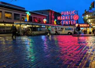 Rainy day at Pike Place Market